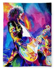 Monolithic Riff - Jimmy Page fleece blankets