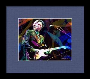 Clapton Live sells as a framed printed