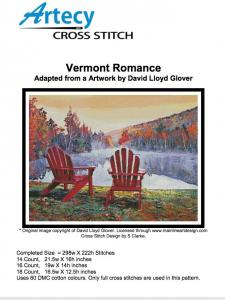 Artecy Cross Stitch Patterns releases Vermont Romance