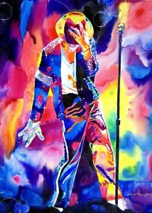 Michael Jackson Sparkle Greeting Cards