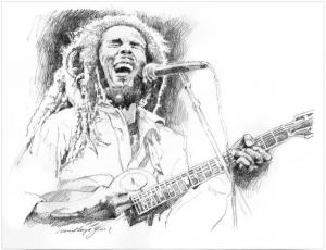 SKETCHES OF BOB MARLEY sells