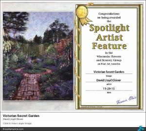 Featured artist by Wisconsin Flowers and Scenery Group