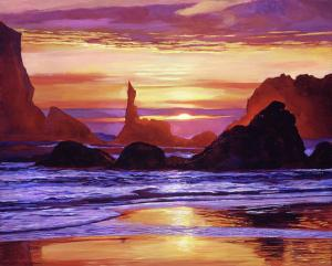 Sunset at Oregon Rocks sells