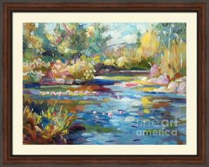 Plein Aire painting Summer Pond