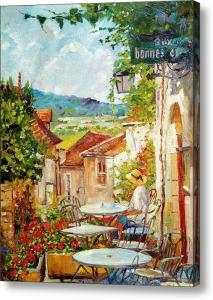 A Provence Cafe Impressionist painting