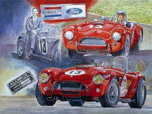 Vintage Cobra Mural By David Lloyd Glover For Newport Car Museum